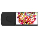 Abstract Colorful Heart Rectangular USB Flash Drive Front