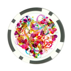 Abstract Colorful Heart Poker Chip Card Guard by BangZart