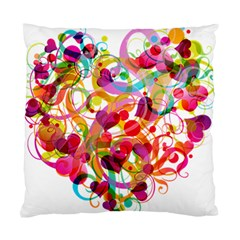 Abstract Colorful Heart Standard Cushion Case (one Side) by BangZart