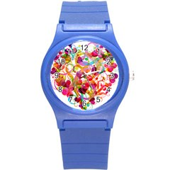 Abstract Colorful Heart Round Plastic Sport Watch (s) by BangZart