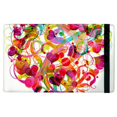 Abstract Colorful Heart Apple Ipad 3/4 Flip Case by BangZart