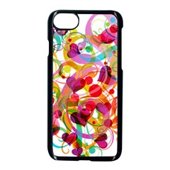 Abstract Colorful Heart Apple Iphone 7 Seamless Case (black) by BangZart