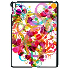 Abstract Colorful Heart Apple Ipad Pro 9 7   Black Seamless Case by BangZart