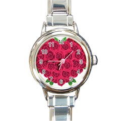 Floral Heart Round Italian Charm Watch by BangZart