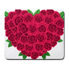 Floral Heart Large Mousepads
