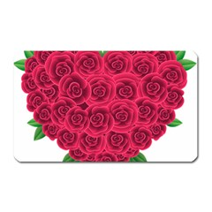 Floral Heart Magnet (rectangular) by BangZart