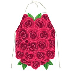 Floral Heart Full Print Aprons by BangZart
