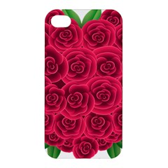 Floral Heart Apple Iphone 4/4s Premium Hardshell Case by BangZart