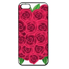 Floral Heart Apple Iphone 5 Seamless Case (black) by BangZart