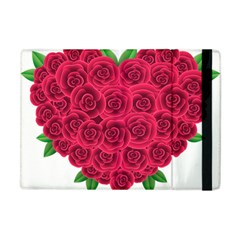 Floral Heart Apple Ipad Mini Flip Case