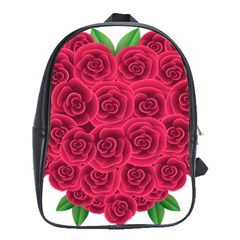 Floral Heart School Bags (xl)  by BangZart