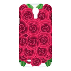 Floral Heart Samsung Galaxy S4 I9500/i9505 Hardshell Case by BangZart