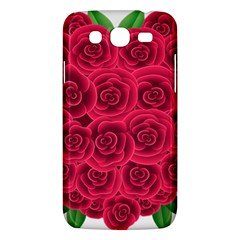 Floral Heart Samsung Galaxy Mega 5 8 I9152 Hardshell Case  by BangZart