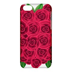 Floral Heart Apple Iphone 5c Hardshell Case by BangZart
