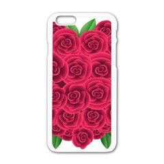 Floral Heart Apple Iphone 6/6s White Enamel Case by BangZart
