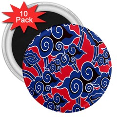 Batik Background Vector 3  Magnets (10 Pack)  by BangZart
