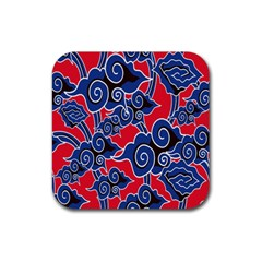 Batik Background Vector Rubber Square Coaster (4 Pack)  by BangZart