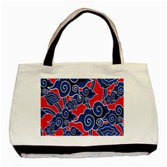 Batik Background Vector Basic Tote Bag by BangZart
