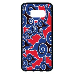 Batik Background Vector Samsung Galaxy S8 Plus Black Seamless Case by BangZart