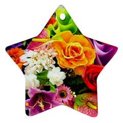 Colorful Flowers Ornament (star) by BangZart