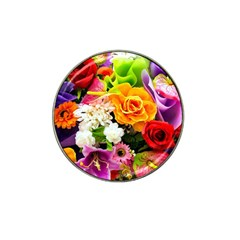 Colorful Flowers Hat Clip Ball Marker (10 Pack) by BangZart