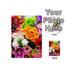 Colorful Flowers Playing Cards 54 (mini)  by BangZart