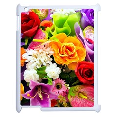 Colorful Flowers Apple Ipad 2 Case (white)