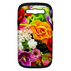 Colorful Flowers Samsung Galaxy S Iii Hardshell Case (pc+silicone) by BangZart