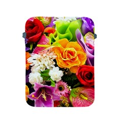 Colorful Flowers Apple Ipad 2/3/4 Protective Soft Cases by BangZart