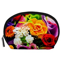 Colorful Flowers Accessory Pouches (large)  by BangZart