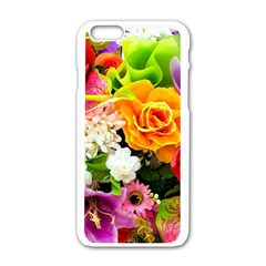 Colorful Flowers Apple Iphone 6/6s White Enamel Case by BangZart
