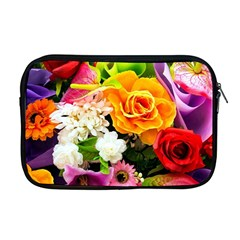 Colorful Flowers Apple Macbook Pro 17  Zipper Case by BangZart
