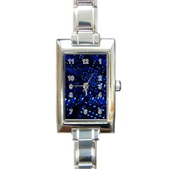 Blue Circuit Technology Image Rectangle Italian Charm Watch by BangZart