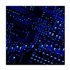Blue Circuit Technology Image Tile Coasters by BangZart