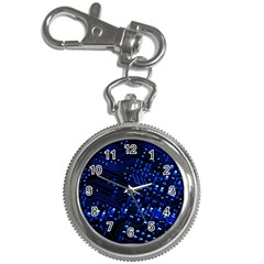 Blue Circuit Technology Image Key Chain Watches by BangZart