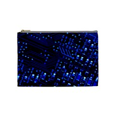 Blue Circuit Technology Image Cosmetic Bag (medium)  by BangZart