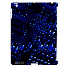 Blue Circuit Technology Image Apple Ipad 3/4 Hardshell Case (compatible With Smart Cover) by BangZart