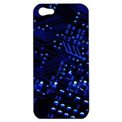 Blue Circuit Technology Image Apple Iphone 5 Hardshell Case by BangZart