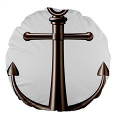 Anchor Large 18  Premium Flano Round Cushions by BangZart