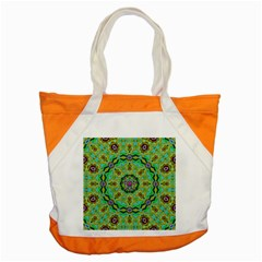 Golden Star Mandala In Fantasy Cartoon Style Accent Tote Bag by pepitasart