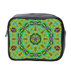 Golden Star Mandala In Fantasy Cartoon Style Mini Toiletries Bag 2 Side by pepitasart
