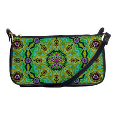 Golden Star Mandala In Fantasy Cartoon Style Shoulder Clutch Bags by pepitasart