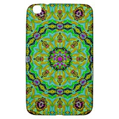 Golden Star Mandala In Fantasy Cartoon Style Samsung Galaxy Tab 3 (8 ) T3100 Hardshell Case  by pepitasart