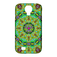 Golden Star Mandala In Fantasy Cartoon Style Samsung Galaxy S4 Classic Hardshell Case (pc+silicone) by pepitasart