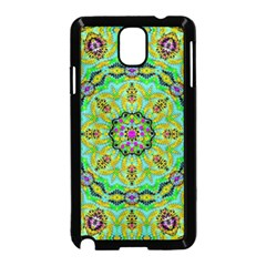 Golden Star Mandala In Fantasy Cartoon Style Samsung Galaxy Note 3 Neo Hardshell Case (black) by pepitasart
