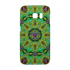 Golden Star Mandala In Fantasy Cartoon Style Galaxy S6 Edge by pepitasart