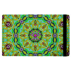 Golden Star Mandala In Fantasy Cartoon Style Apple Ipad Pro 12 9   Flip Case by pepitasart