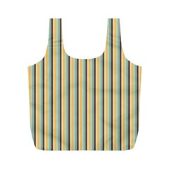 Elegant Stripes Full Print Recycle Bags (m)  by Colorfulart23