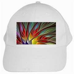 Fractal Bird Of Paradise White Cap by WolfepawFractals