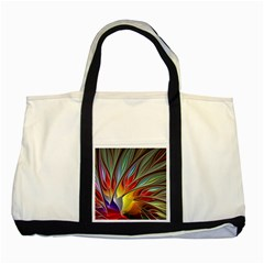 Fractal Bird Of Paradise Two Tone Tote Bag